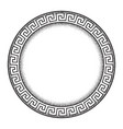 antique greek style meander ornament dot work vector image vector image