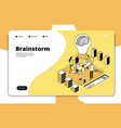 brainstorm landing page business people launching vector image vector image