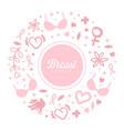 breast cancer banner template brochure flyer vector image