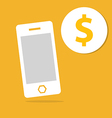 Business Mobile and money icon vector image
