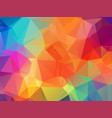 colorful polygonal mosaic background geometric vector image