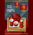 colorful traditional tea ceremony template vector image vector image