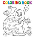 coloring book easter rabbit theme 8 vector image vector image