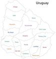 Contour Uruguay map vector image vector image