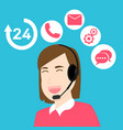 customer service and support vector image vector image