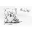 cute cartoon kitty vector image vector image