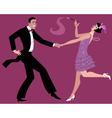 dancing charleston vector image vector image