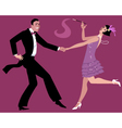 Dancing the Charleston vector image vector image