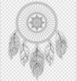 dreamcatcher on transparent background vector image