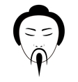 east asian traditional man icon image vector image vector image