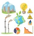 Eco Energy Design Concept Set vector image vector image