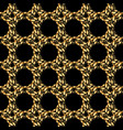 elegant gold chain grid seamless pattern vector image