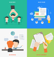 element hr recruitment process concept icon in vector image vector image