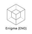enigma eng crypto coin ico vector image vector image