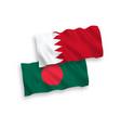 flags bangladesh and bahrain on a white