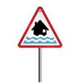 Flood Warning vector image vector image