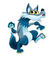 funny walking wolf vector image vector image