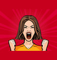 girl or young woman screaming out loud pop art vector image vector image