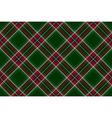 Green red diagonal check fabric texture seamless vector image vector image