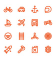 hand drawn flat icons vector image