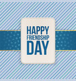Happy Friendship Day Sale special Emblem vector image vector image