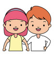 happy kids character vector image vector image