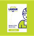happy labour day design with green and blue theme vector image vector image