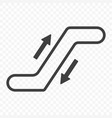 icon escalator with up and down arrows on a vector image