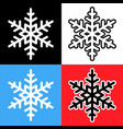 ideal snowflake icon variants on different vector image