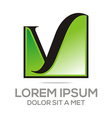 letter y icon concept business alphabet vector image