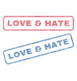 love hate textile stamps vector image vector image