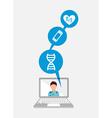 medicine online vector image