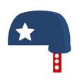 memorial day blue helmet with star american vector image vector image