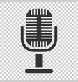 microphone icon in flat style mic broadcast on vector image vector image