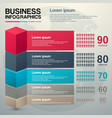 modern business charts modern vector image