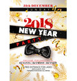 new year 2018 party promotional poster with black vector image vector image