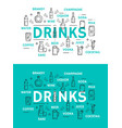 non alcohol beverage and alcohol drinks vector image