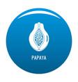 papaya icon blue vector image vector image