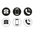 phone icon call icon mobile phone smartphone vector image