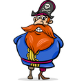 pirate captain cartoon vector image vector image