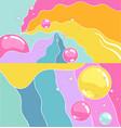 rainbow bubbles background vector image