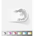 realistic design element shrimp vector image