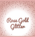rose gold glitter background pink golden vector image