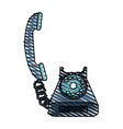 rotary telephone icon image vector image vector image