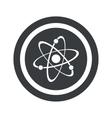 Round black atom sign vector image vector image