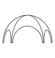 round tent icon outline style vector image