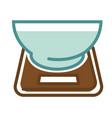 scales with bowl vector image