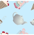 seamless pattern tasty vector image vector image