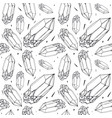 seamless pattern with image a crystal vector image