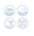 Set of round icons vector image vector image